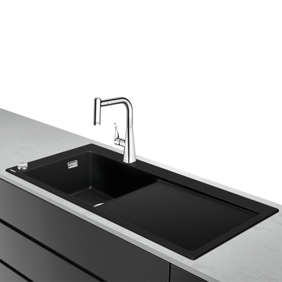 Hansgrohe C51 Select sink combination 450 with draining board