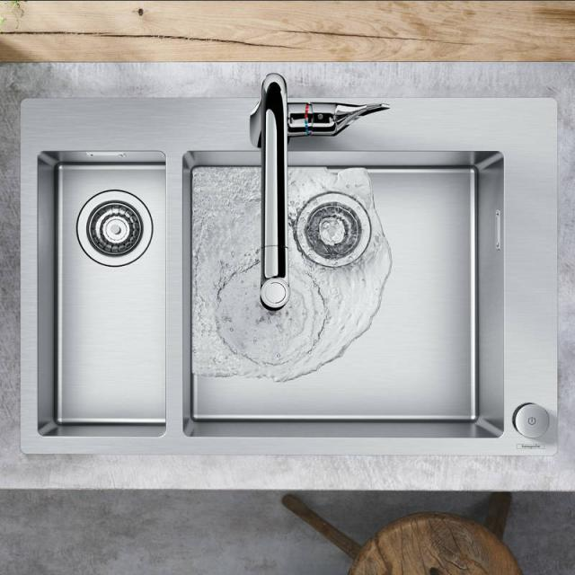 Hansgrohe C71 Select sink combination 180 x 450, with 2 bowls W: 75.5 D: 50 cm chrome