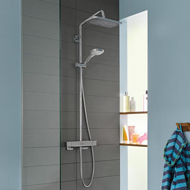 Hansgrohe Croma E 1jet Showerpipe with thermostat