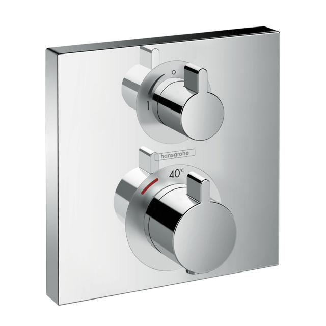 Hansgrohe Ecostat Square concealed thermostat, for 2 outlets chrome