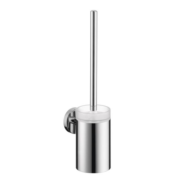 Hansgrohe Logis toilet brush with glass container chrome