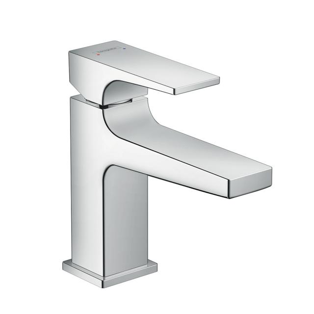 Hansgrohe Metropol single lever basin mixer 100, with lever handle, with waste set chrome, projection: 127 mm
