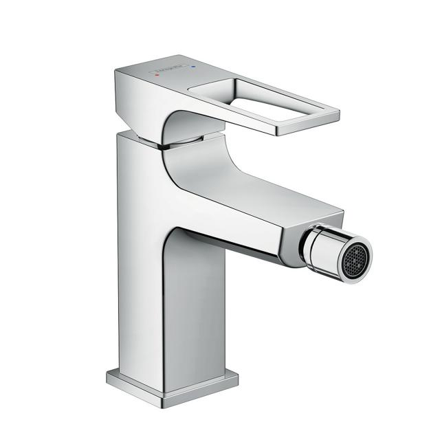 Hansgrohe Metropol single lever bidet mixer, with loop handle, with waste set
