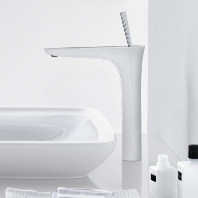 Hansgrohe PuraVida single lever basin mixer 240, for wash bowls, 900 mm connection white/chrome