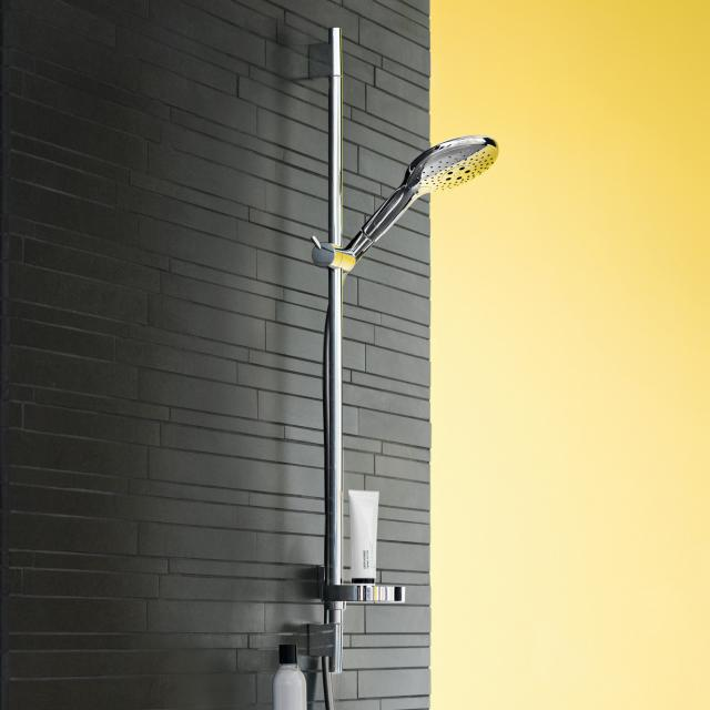 Hansgrohe Raindance Select S 150 3jet hand shower / Unica'S Puro shower rail set H: 900 mm, chrome