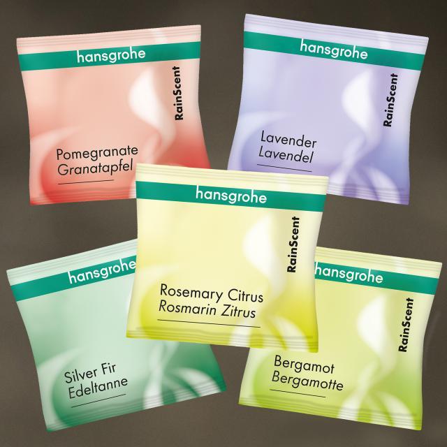 Hansgrohe RainScent wellness kit shower tabs, 5 pieces mixed