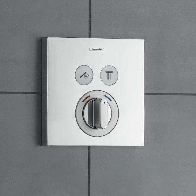 Hansgrohe ShowerSelect concealed mixer for 2 outlets