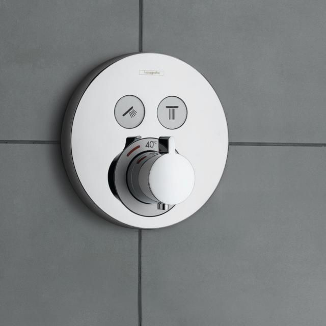 Hansgrohe ShowerSelect S concealed thermostat, for 2 outlets chrome