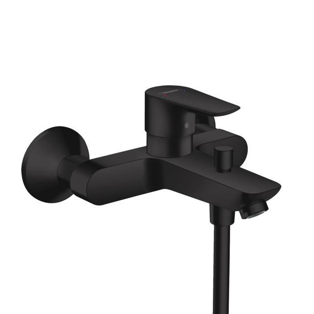 Hansgrohe Talis E exposed single lever bath mixer matt black
