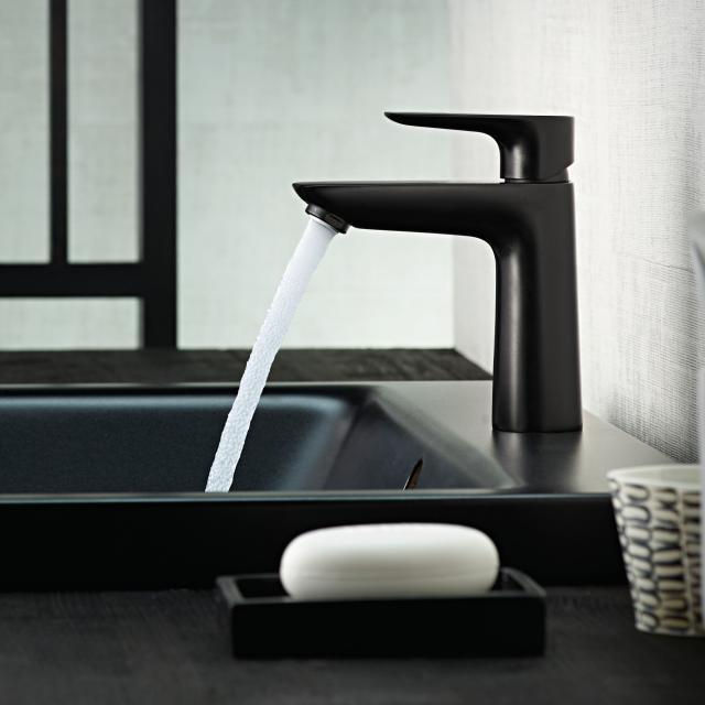 Hansgrohe Talis E single lever basin mixer 110 CoolStart matt black, without waste set