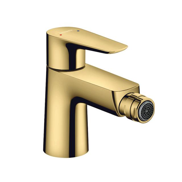Hansgrohe Talis E single lever bidet mixer gold, with pop-up waste set