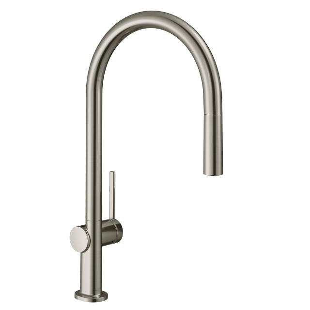 Hansgrohe Talis M54 single lever kitchen mixer with pull-out spout brushed stainless steel