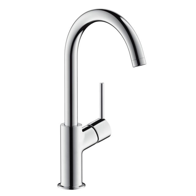 Hansgrohe Talis single lever basin mixer 210, with 120° swivel spout with push-open waste set