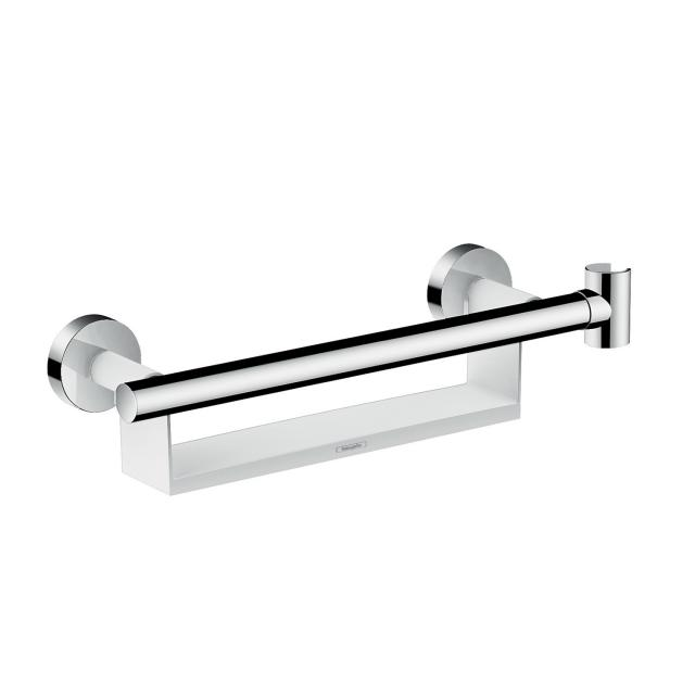 Hansgrohe Unica Comfort grab rail with shelf and shower bracket white/chrome