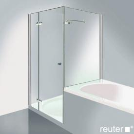Reuter Kollektion Medium New door with short side panel chrome/silver high gloss STIM 769-784 fixed 134/725