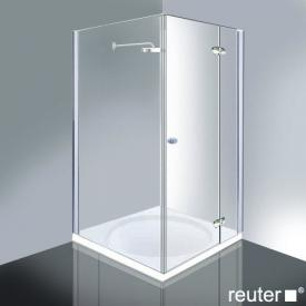 Reuter Kollektion Medium New door with side panel chrome/silver high shine STIM 869-884 fixed234/825