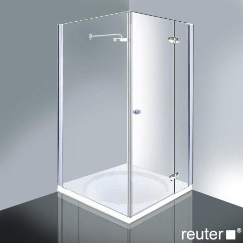 Reuter Kollektion Medium New door with side panel chrome/silver high shine STIM 869-884 fixed234/825
