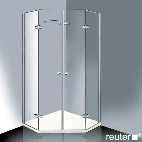 Reuter Kollektion Medium New pentagonal with 2 pivot doors chrome/silver high shine STIM 869-884 fixed396
