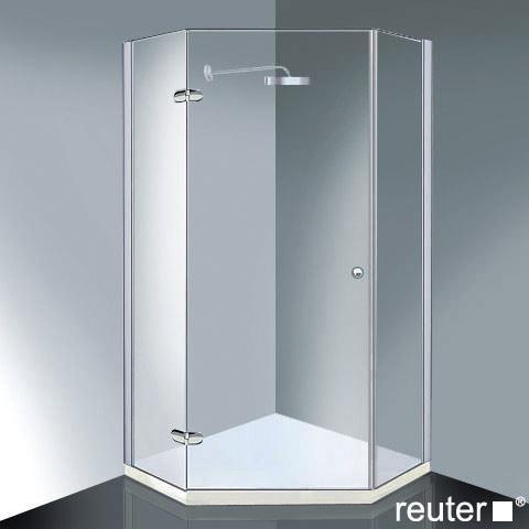 Reuter Kollektion Medium New pentagonal with 1 pivot door chrome/silver high shine STIM 885-900 fixed 475
