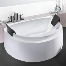 Hoesch AVIVA D-shaped, back-to-wall bath with 2 backrests white