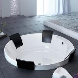 Hoesch AVIVA round bath with 4 backrests white