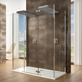 Hoesch CIELA for two shower panels with overhead showers, back-to-wall version
