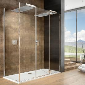 Hoesch CIELA for two shower panels with overhead showers, corner version