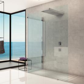 Hoesch CIELA shower panel with overhead shower, back-to wall version