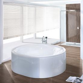 Hoesch ERGO oval bath, freestanding white, panelling: acrylic white/glass white