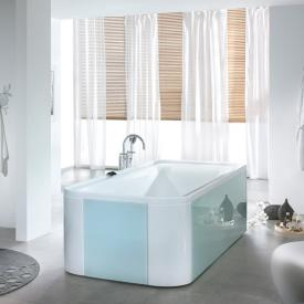 Hoesch ERGO rectangular bath, freestanding white, panelling: acrylic white/glass white
