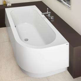 Hoesch HAPPY D corner bath with panel, left version white