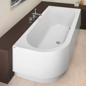Hoesch HAPPY D corner bath with panel, right version white