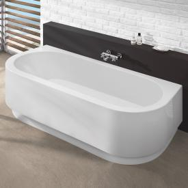 Hoesch HAPPY D D-shaped bath with panel white
