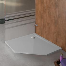 Hoesch MUNA pentagonal shower tray tele grey