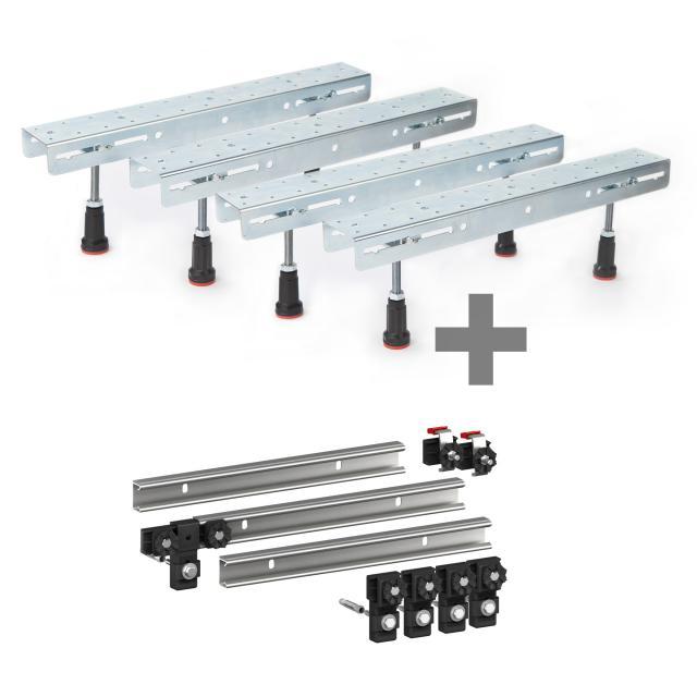 2x Hoesch 1 pair of foldable legs incl. set of 3 MEPA support rails