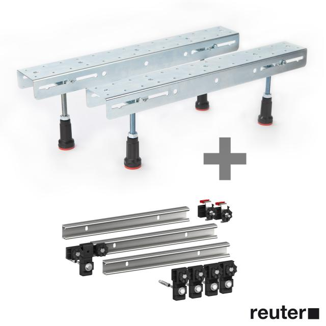 Hoesch 1 pair of foldable legs incl. set of 3 MEPA support rails