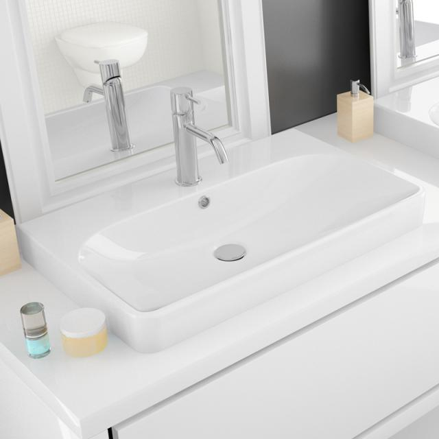 Hoesch CARTA countertop washbasin white