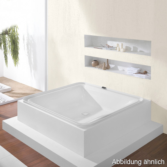 Hoesch ERGO freestanding rectangular whirlbath panelling: acrylic white/glass white