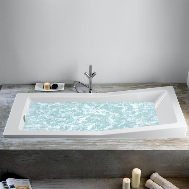 Hoesch FOSTER rectangular whirlbath with Deluxe Whirl-Air whirl system, built-in controls on the right