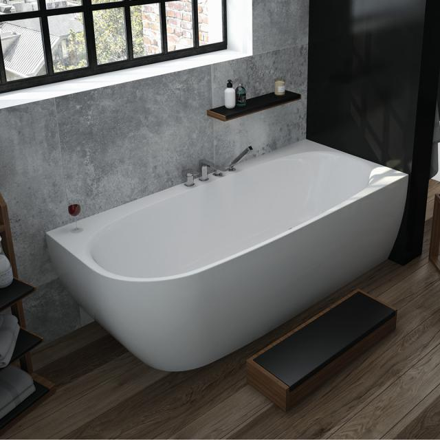 Hoesch iSENSI corner bath with panelling without bath filler