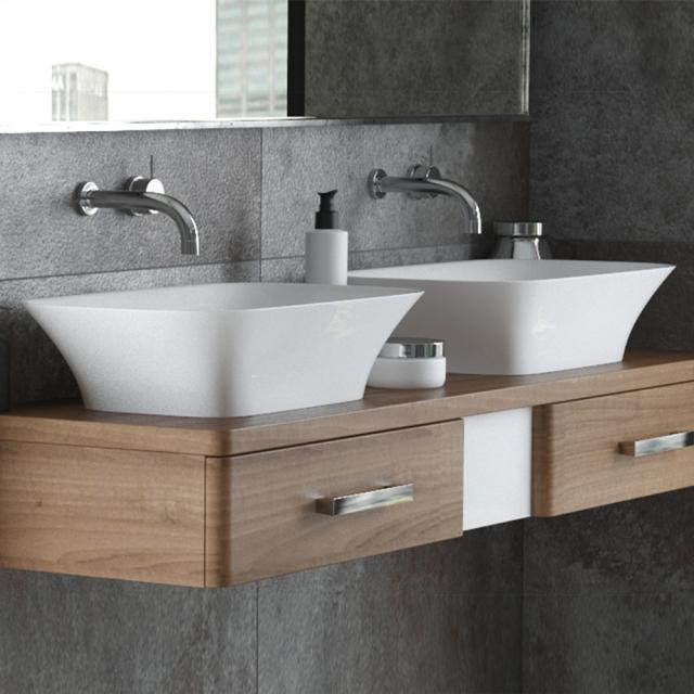 Hoesch LEROS countertop washbasin matt white