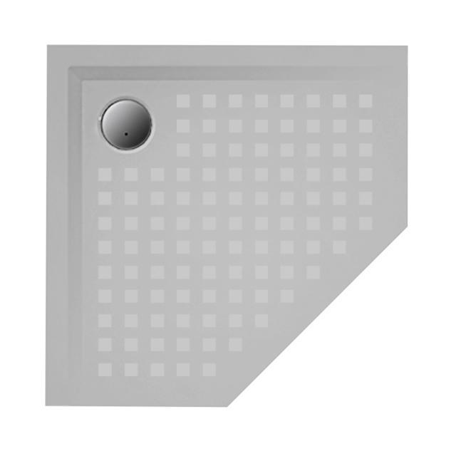 Hoesch MUNA pentagonal shower tray tele grey, with SoliquePRO anti-slip