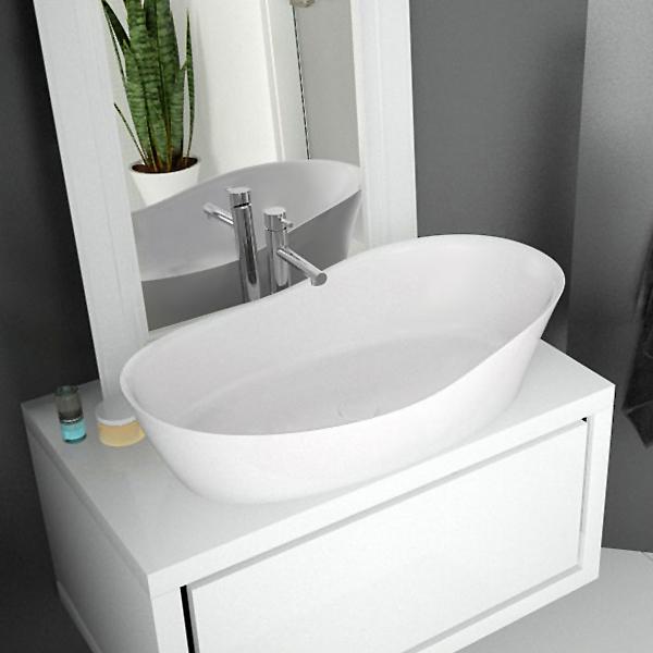 Hoesch NAMUR LOUNGE countertop washbasin matt white