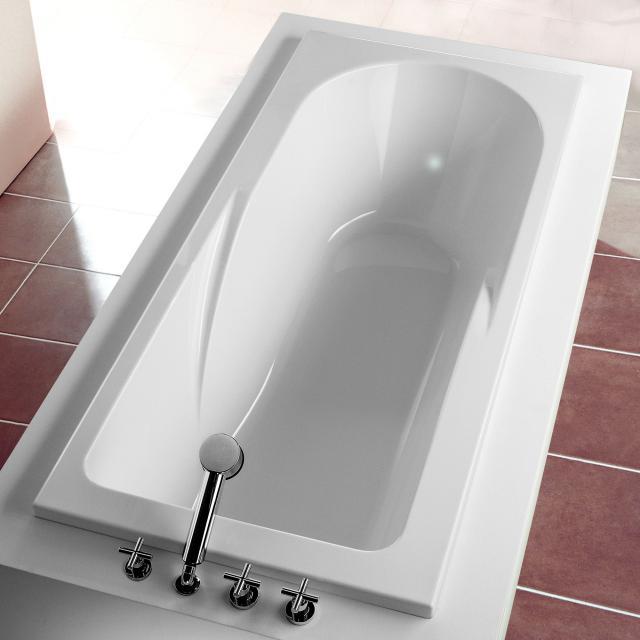 Hoesch REGATTA rectangular bath, built-in with shower zone white