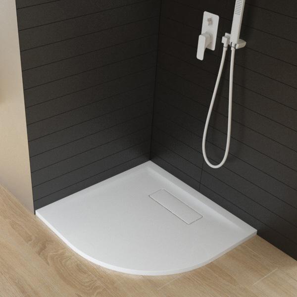 Hoesch SOLA quadrant shower tray