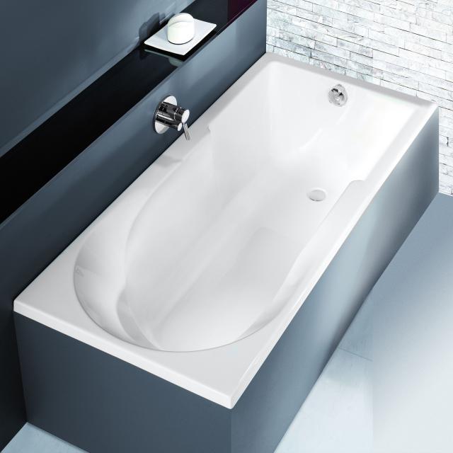 Hoesch SPECTRA rectangular bath with shower zone, built-in white