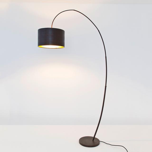 HOLLÄNDER Bambus Arco floor lamp