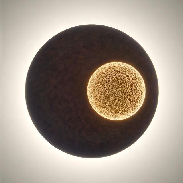 HOLLÄNDER Luna LED wall light 80 round