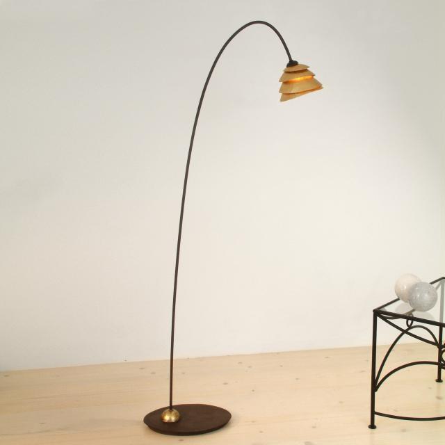 HOLLÄNDER Snail One floor lamp, 1 head