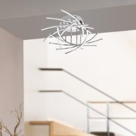 Fischer & Honsel Cross LED ceiling light 10 heads